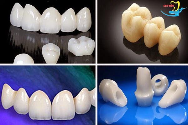 có nhiều loại răng giả được áp dụng trong trồng răng sứ