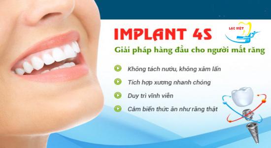 làm răng implant có đau không bằng công nghệ 4S